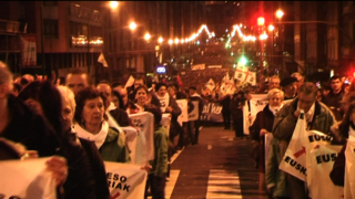 Euskal presoen eskubideen aldeko manifestazio erraldoia Bilbon