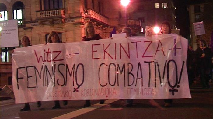 Emakumeen aurkako indarkeriaren kontrako mobilizazioa Donostian